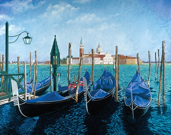 Gondolas Di San Marco by Sarina Tomchin