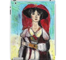 Lady With Red Feather Hat(after Lawrence) iPad Case/Skin