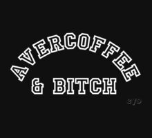 AVERCOFFEE & BITCH: White logo by Ethel Yarwood