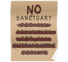 No Sanctuary Poster