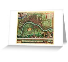 London Map 1600s Greeting Card