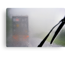 Terrifying: Driving in the Monsoon, Borneo Canvas Print