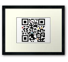 QR Pacman Framed Print