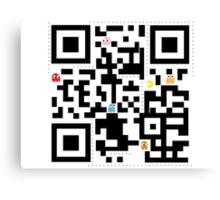 QR Pacman Canvas Print