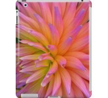 Rainbow coloured Dahlia #1 iPad Case/Skin