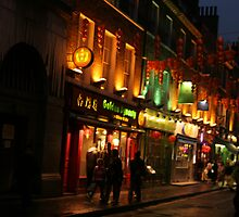 Chinatown, London, England by John Edward Barrera