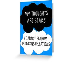 My Thoughts are Stars Greeting Card