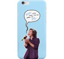 Harry, look what you've done to me - baby blue iPhone Case/Skin