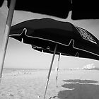 Beach Umbrella's by Nancy