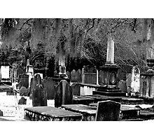 Spooky Graveyard  Photographic Print
