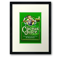 Master Sokka's Cactus Juice Framed Print