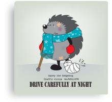 Drive carefully at night Canvas Print