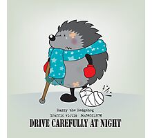 Drive carefully at night Photographic Print