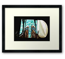 The Swimmer  Framed Print
