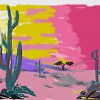 Beautiful desert scene by Anna  Lewis