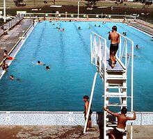 Mun. pool, Bourke, '68  by Ozcloggie