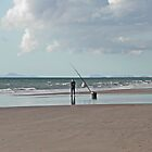 Beach Fishing in Wales by AnnDixon