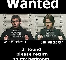 Winchesters Wanted... With white lettering  by crazyfangirl97