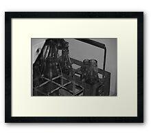 Milk Bottles c.1940 Framed Print