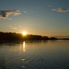 Sunset on the Tanana by Maria A. Barnowl