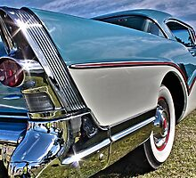 1957 two tone Buick in blue and white by Ferenghi