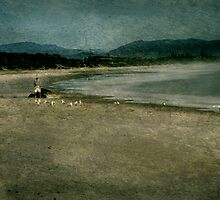 Man on a beach by Jeff Davies