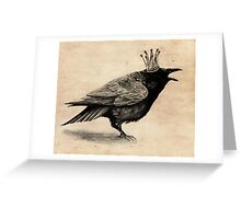 Crow in crown Greeting Card