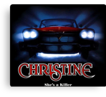 Amazing black transparency. Christine. A real killer. Canvas Print