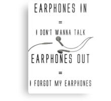 Earphones Music Funny Design Metal Print
