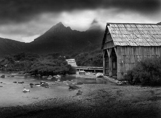 Dove Lake Boat House by Mark Higgins