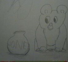 Bear Looking at Honey Jar by dsarma