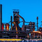 BETHLEHEM STEEL STACKS AT DUSK by Diane Peresie