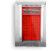 Red Door Metal Print