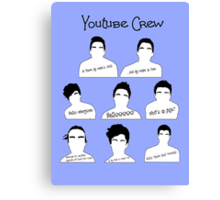 Youtube Crew Canvas Print