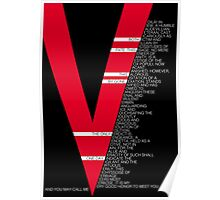 V for Vendetta Speech Poster