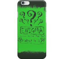 the quest of the riddler iPhone Case/Skin
