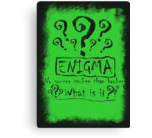 the quest of the riddler Canvas Print