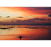 Under the fiery sky Photographic Print