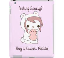 Hug a Kawaii Potato :3 iPad Case/Skin