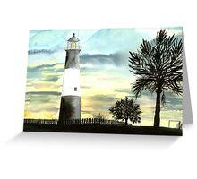 Tybee Island, GA Lighthouse Greeting Card