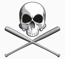 Skull and Baseball Bats by dxf1969