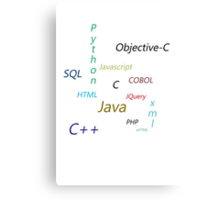 Programming Languages Canvas Print