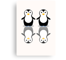 PENGUIN PAIR Canvas Print