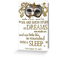 Shakespeare The Tempest Dreams Quote Greeting Card