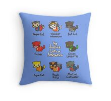 The Justice Cats of Ameowrica Throw Pillow