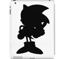 Classic Sonic Silhouette - Black iPad Case/Skin