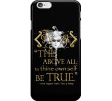 "Shakespeare Hamlet ""own self be true"" Quote iPhone Case/Skin"