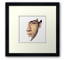 Nick Jonas Polygon Portrait Framed Print