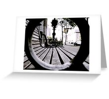 Park Benches Greeting Card