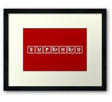 Superhero - Periodic Table Framed Print